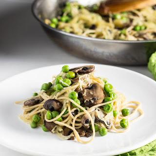 Mushroom Spaghetti Squash with Peas