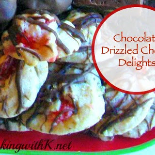 Chocolate Drizzled Cherry Delights