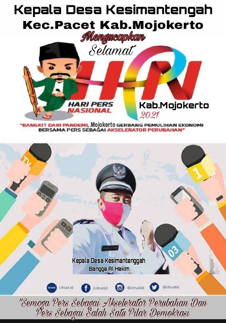 Ucapan Selamat Hari Pers Nasional ke 75 Dari Kades Kesimantengah Pacet Kabupaten Mojokerto