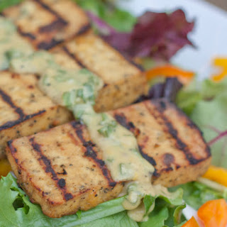 Grilled Lemon Basil Tofu Salad