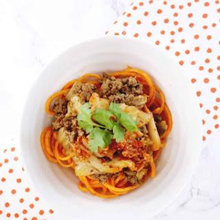 Kimchi Beef Noodle Bowl Recipe