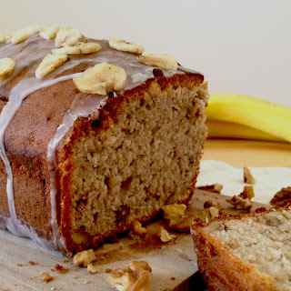 Sweet Banana and Walnut Loaf.