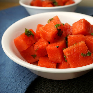 Watermelon Salad with Honey Lime Dressing.