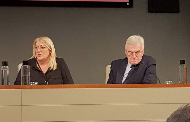 Trish Ford and John McDonnell at the Road to Brexit conference