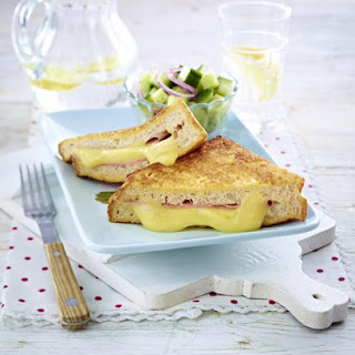 Croque Monsieur with Cucumber Salad