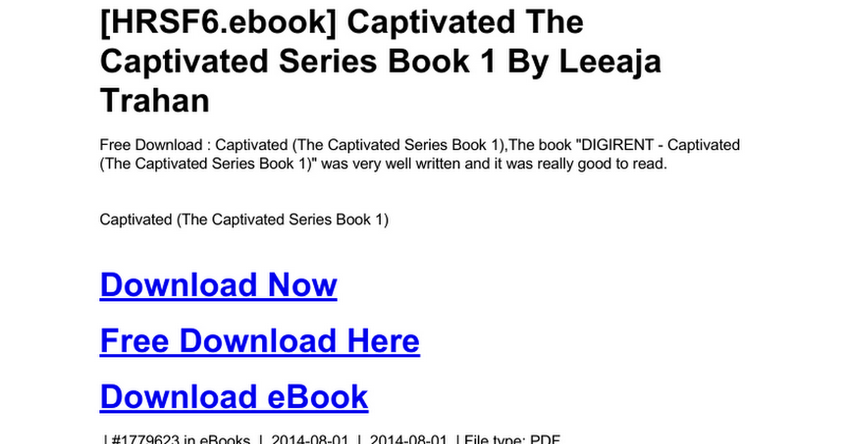 Captivated the captivated series book 1c google docs fandeluxe Images