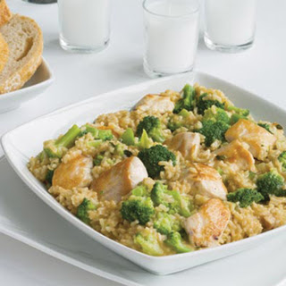 Chicken, Rice and Broccoli Dinner.