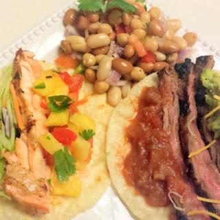 Mexican Grilled Salmon Fajitas.