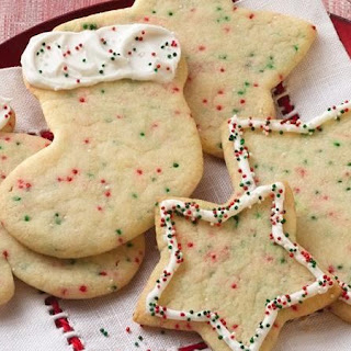 Confetti Christmas Cutout Cookies.