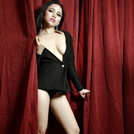 sexy by Renie A. Priyanto - Nudes & Boudoir Artistic Nude ( #red #woman #nudes #black #beauty )