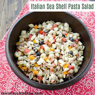 Italian Sea Shell Pasta Salad.
