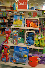 Photo: Right at the entrance we noticed this great display of summer water toys from Melissa and Doug