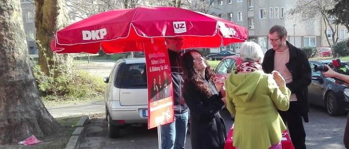 DKP-Infostand zur Landtagswahl.