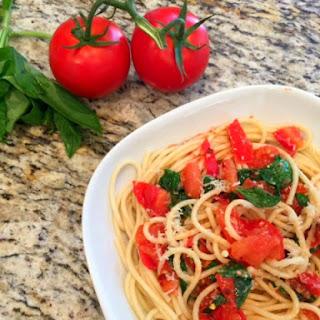 Spaghetti Aglio E Olio,Tomato Basil Spicy Spaghetti Recipe