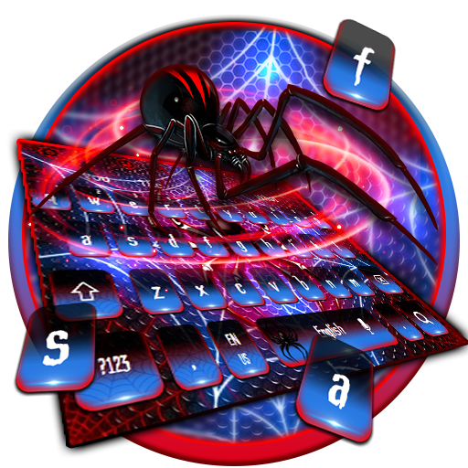 Glossy Red Blue Spider Keyboard Android APK Download Free By Workshop Theme