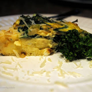 Dairy Free Crustless Spinach and Bacon Quiche.