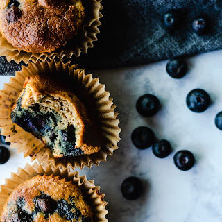Paleo Blueberry Protein Muffin.