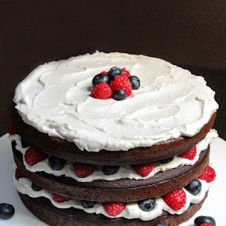 Patriotic Paleo Chocolate Cake