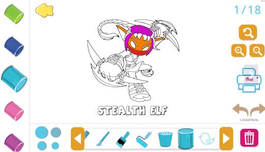 new coloring book skylanders screenshot thumbnail - Skylanders Coloring Book