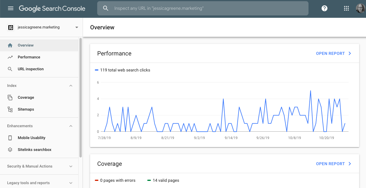 content audit tools - google search console