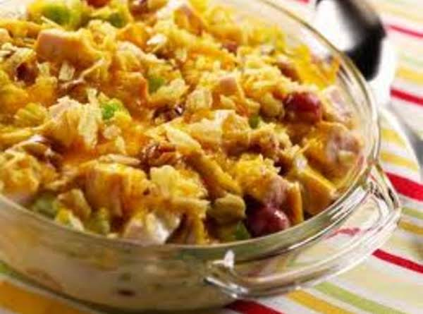 Cheesy Turkey Salad Casserole Recipe
