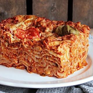 Simple Lasagna with No Frills