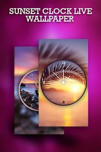 Sunset Clock Live Wallpaper - náhled