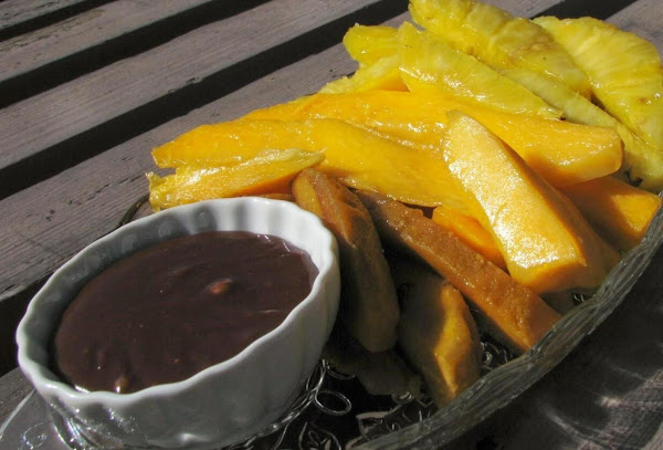 Tropical Fruits With Chocolate Recipe
