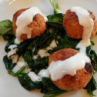 Salmon Balls with Mock Hollandaise Sauce