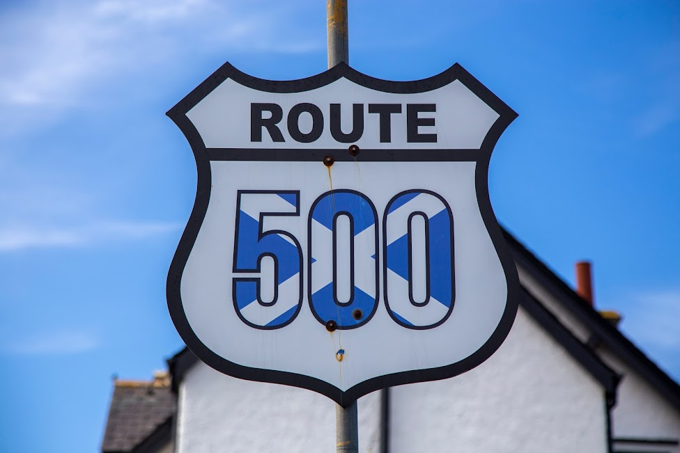 Szkocja, North Coast 500, znak