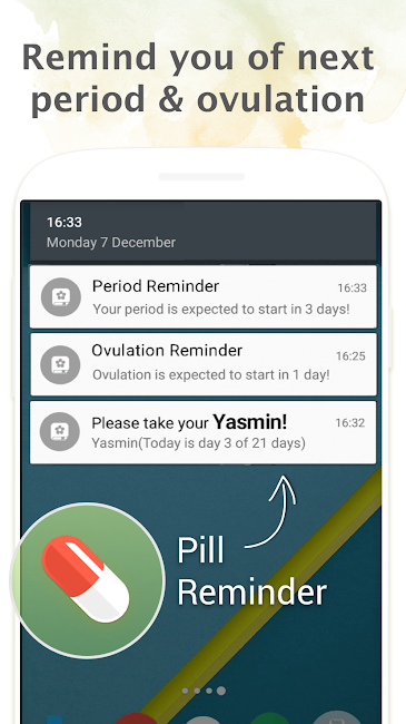 #4. Period Tracker, My Calendar (Android)