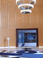 Photo: Rear Lobby, One-Person Show, Philip Johnson Designed, Towers Crescent  Bldg, Tysons, VA, 5/7 - 8/13/2017