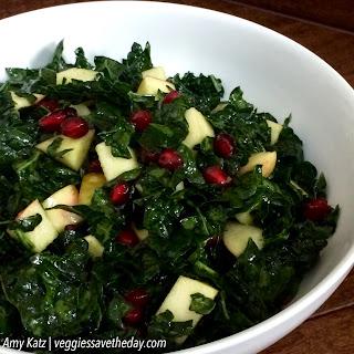 Pomegranate and Apple Kale Salad