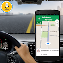 Voice navigation gps maps & tracking route drive icon
