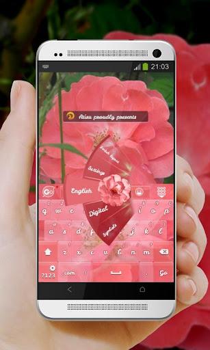 純粉紅色 GO Keyboard