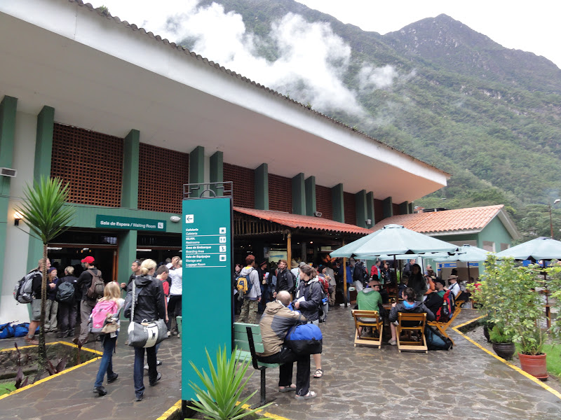 Photo: The trains station at Aguas Calientes.