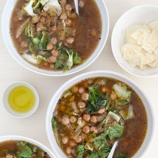 Slow-Cooker Sicilian Chickpea and Escarole Soup.