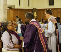 Photo: Ash Wednesday w/ Fr. Bradley and Deacon Cyrus