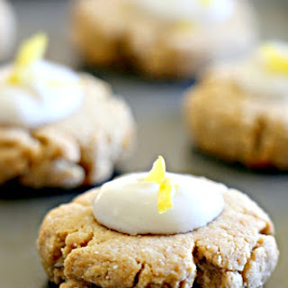 English Gingernut Cookies with Whipped Lemon-Coconut Icing (Paleo, GF, Vegan, Oil-Free, Refined Sugar Free)