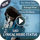 Download My Photo Sad Lyrical Video Status Maker with Music For PC Windows and Mac