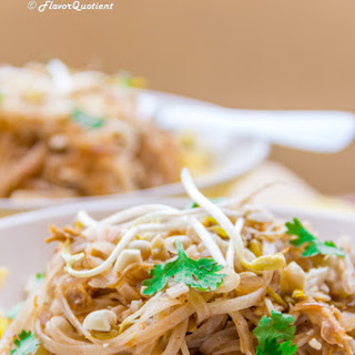 Chicken Pad Thai Noodles.