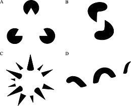 Immagini esemplificative del principio di chiusura della psicologia della gestalt