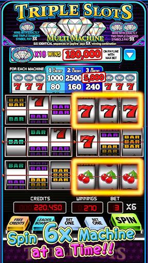 Triple Slots -Multi 6x Machine