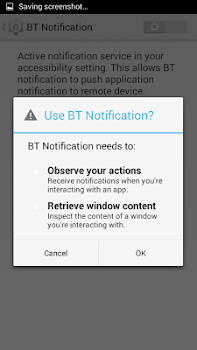 BT Notification
