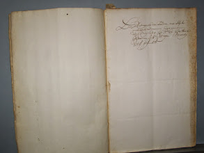 Photo: De besoignes (?) der Landen ent Slijck omtrent Doccum begonnen de 7e May 1638,,, No 69 bij de Heere Grytman J V Wayen Marty 1718 ge...