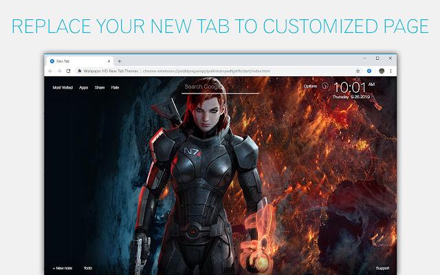 Mass Effect Wallpaper HD Custom New Tab