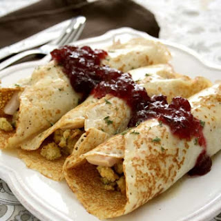 SAVORY CREPES with THANKSGIVING TURKEY & STUFFING Recipe