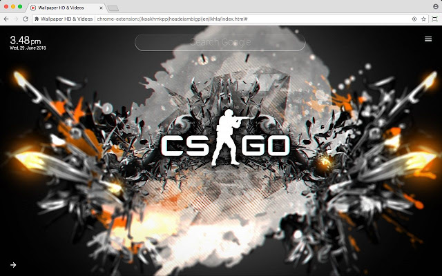 Counter Strike CS GO FPS Wallpaper New Tab
