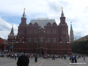 Photo: A museum and the back of somebody's head at Red Square in Moscow