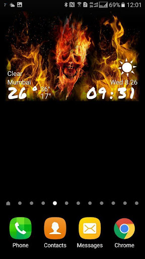 免費下載天氣APP|Skull Clock Weather Widget app開箱文|APP開箱王